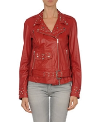 Dinou By Joaquim Jofre' Leather Outerwear Brick Red