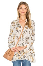 Free People Pebble Crepe So Fine Smocked Tunic Top Ivory