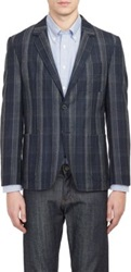 Brooklyn Tailors Flannel Two Button Sportcoat Blue