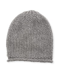 Rebecca Minkoff Simple Solid Slouchy Beanie Hat Light Gray