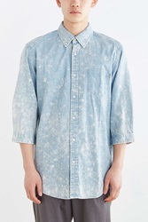 Publish Eastward 3 4 Sleeve Button Down Shirt Blue
