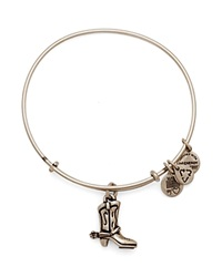 Alex And Ani Cowboy Boot Expandable Wire Bangle Charity By Design Collection Rafaelian Silver