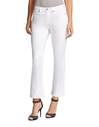 William Rast Cropped Flare Jeans White
