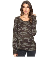 Sanctuary Renee Printed Camo Crew Sweater Heritage Camo Women's Sweater Brown