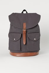Handm H M Cotton Canvas Backpack Gray
