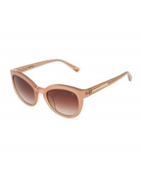 Nina Ricci Frosted Cat Eye Plastic Sunglasses