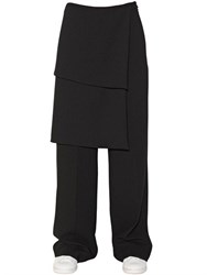 Off White Paneled Wool Crepe Pants