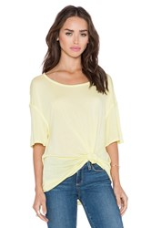 Michael Stars Boatneck Side Tie Tee Yellow