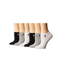 Lauren Ralph Lauren 6 Pack Ultra Low Cut Socks Assorted Women's Crew Cut Socks Shoes Multi