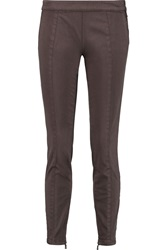 Tory Burch Piper Cropped Stretch Cotton Blend Skinny Pants