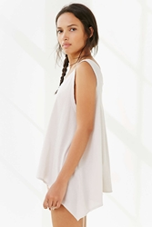 Truly Madly Deeply Double V Tank Top White