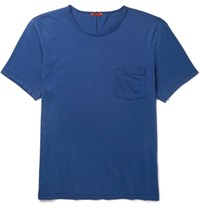 Barena Slim Fit Cotton Jersey T Shirt Cobalt Blue