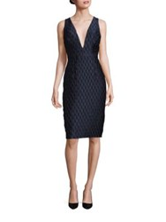 Milly Callie Bubble Jacquard Dress Navy