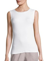 Peserico Chain Trimmed Tank Top White