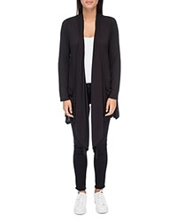 B Collection By Bobeau Pennie Draped Open Front Cardigan Black