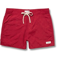Saturdays Surf Nyc Curtis Patterned Swim Shorts Red