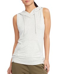 Lauren Ralph Lauren Lightweight Sleeveless Hoodie White