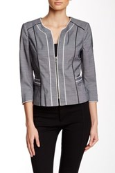 Dex Piped Trim Blazer Gray