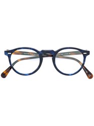 Oliver Peoples Gregory Peck Round Frame Glasses Acetate Blue