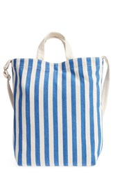 Baggu 'Duck Bag' Canvas Tote Blue Summer Stripe