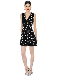 Dolce And Gabbana Polka Dot Printed Silk Charmeuse Dress