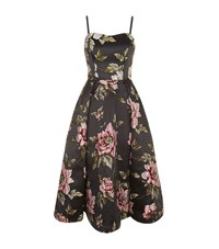 Ted Baker Bernica Floral Jacquard Strapless Dress Female Grey