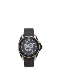 Gucci Dive Kingsnake Stainless Steel Watch Black Silver