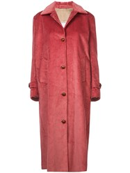 Giuliva Heritage Collection Corduroy Single Breasted Coat Pink