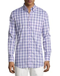 Bobby Jones Long Sleeve Plaid Cotton Shirt Purple