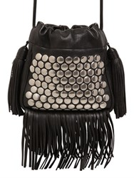 Saint Laurent Helena Studded Leather Bucket Bag