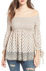 Socialite Women's Smocked Off The Shoulder Top