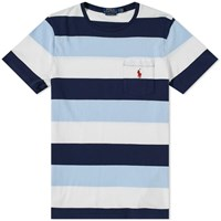 Polo Ralph Lauren Striped Pocket Tee Blue