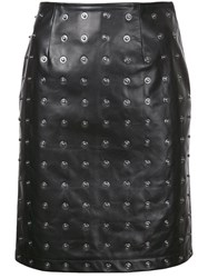 Donnah Mabel Studded Detail Pencil Skirt Black