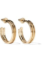 Eddie Borgo Trace Gold Plated Hoop Earrings One Size
