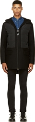 Mackage Black Wool And Down Hooded Avo Coat