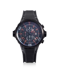 Lancaster Men's Watches Space Shuttle Black Stainless Steel Chronograph Watch