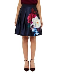 Ted Baker Blushing Bouquet Full Skirt Navy
