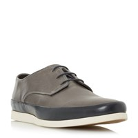 Bertie Breezy Contrast Tand Lace Up Shoes Dark Grey