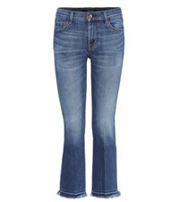 J Brand Selena Bootcut Cropped Skinny Jeans Blue