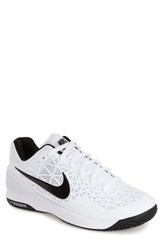 Men's Nike 'Zoom Cage 2' Tennis Shoe White Cool Grey Black
