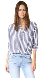 Rails Elle Button Down Shirt White Storm Stripe