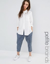 Noisy May Petite Pinstripe Trouser Blue