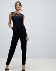 French Connection Fitted Jumpsuit Black
