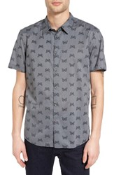John Varvatos Men's Collection Mayfield Slim Fit Butterfly Print Sport Shirt