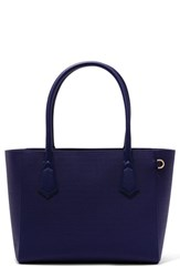 Dagne Dover 365 Signature Classic Coated Canvas Tote Blue Dagne Blue