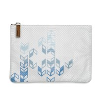 August The Portofino Pouchette Ombre Arrow Print