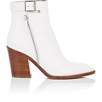Derek Lam Easton Leather Ankle Boots Olive