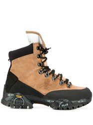 Premiata Two Tone Hiking Boots Brown