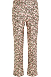 Giambattista Valli Brocade Flared Pants Pink