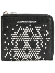 Alexander Mcqueen Studded Skull Card Holder Black